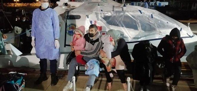 Çanakkale Açıklarında Yunanistan Unsurlarınca Geri İtilen 101 Düzensiz Göçmen Kurtarıldı