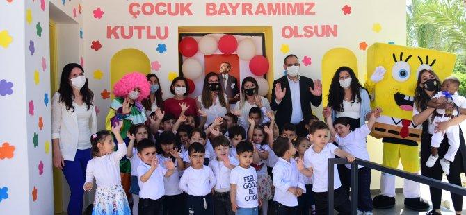 LTB El Ele Çocuk Merkezi'ndeki çocuklar 23 Nisan'ı şarkılar ve oyunlarla kutladı