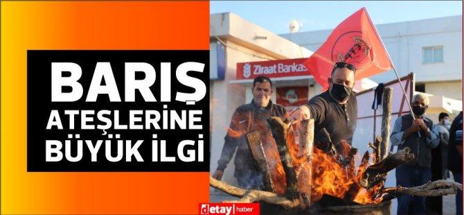 CTP'nin Barış ateşlerine İskele ve Güzelyurt'ta büyük ilgi