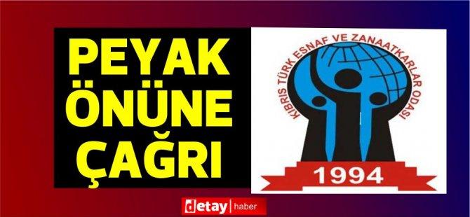 """Kıbrıs Türk Esnaf ve Zanaatkârlar Odası: """"Yeni ve yeniden bir mücadele başlatmak"""" için yarın Peyak önünde toplanalım"""