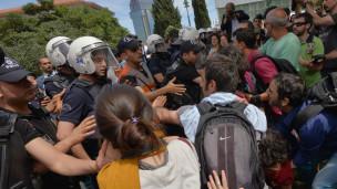 Taksim Gezi Parkı'na ikinci günde de polis müdahalesi