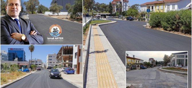 Gazimağusa Belediyesi Sakarya Mahallesi'nde Asfalt Dökümüne Devam Ediyor