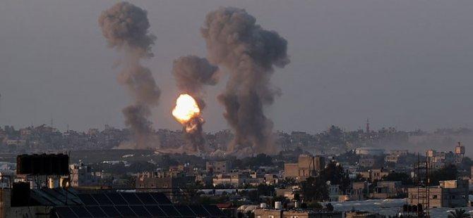 İsrail savaş uçakları, Gazze'de çeşitli noktalara hava saldırısı düzenledi