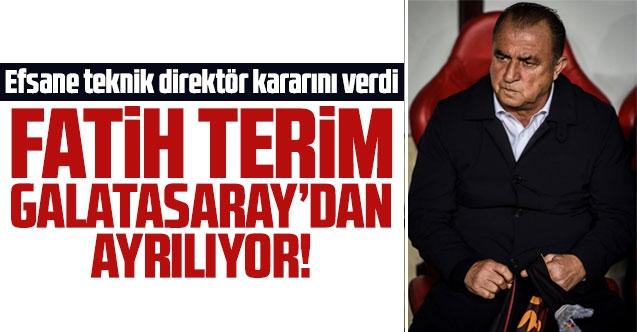 Fatih Terim Galatasaray'a veda ediyor