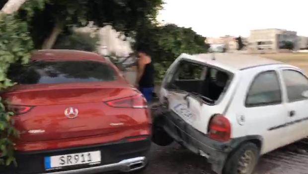 Lefkoşa'da Şehit Hüseyin Ruso Stadyumu yanında büyük bir kaza oldu