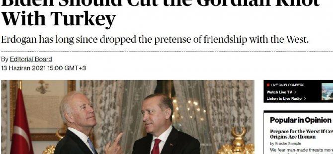 Bloomberg'den başyazı ile bugün Erdoğan'la görüşecek Biden'a çağrı