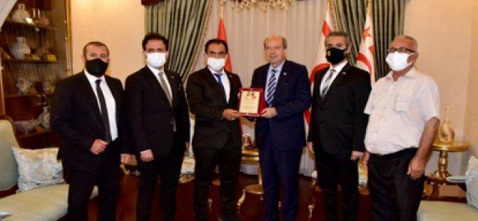 Cumhurbaşkanı Tatar Akil Dost Konseyi Komitesi Heyetini Kabul Etti