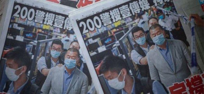 Hong Kong'da Ulusal Güvenlik Yasası'nın Sonuçları: Apple Daily Gazetesine Baskın Düzenlendi; 5 Yönetici Gözaltına Alındı