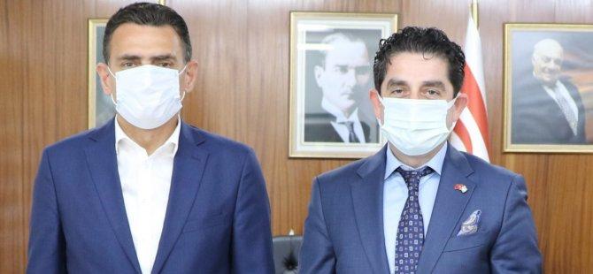 Halk Bankası Ülke Müdürü Ceyran, Maliye Bakanı Oğuz'a Nezaket Ziyaretinde Bulundu