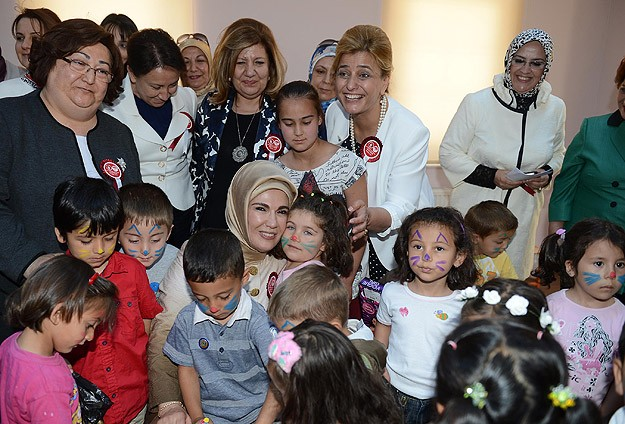 Emine Erdoğan anaokulu açtı