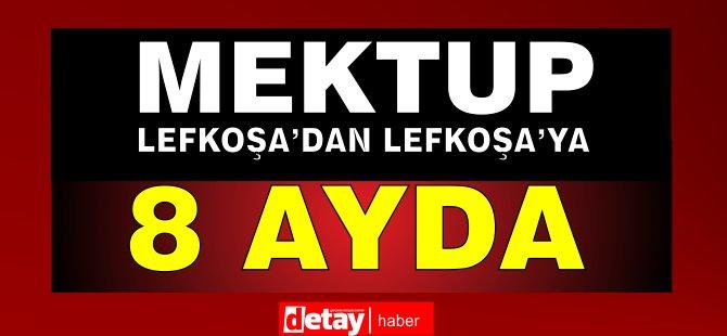 Mektup Lefkoşa'dan Lefkoşa'ya 8 ayda ulaştı!