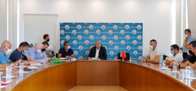 Gazimağusa Belediyesi'nde Kanalizasyon Koordinasyon Toplantısı Yapıldı
