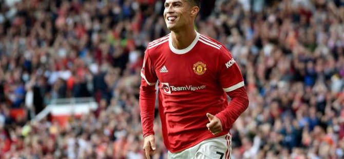 Ronaldo Manchester United ile çıktığı ilk maçında 2 gol attı