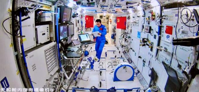 Çinli astronotlar 90 gün sonra uzay istasyonunundan ayrıldı