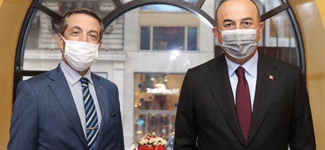 Dışişleri Bakanı Tahsin Ertuğruloğlu, mevkidaşı Çavuşoğlu ile görüştü