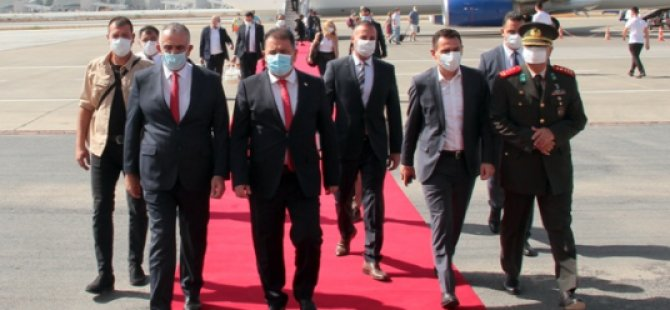 Türkiye temaslarını tamamlayan Başbakan Saner yurda döndü