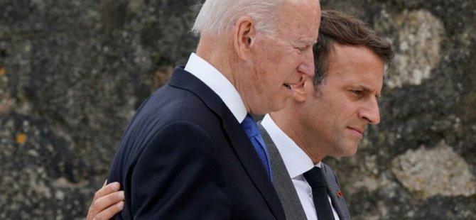Macron ile Biden arasında 'AUKUS krizi' görüşmesi