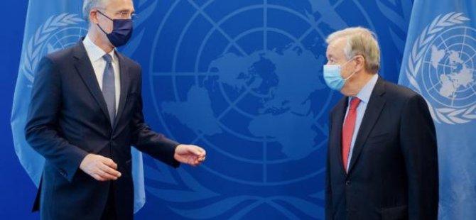 Stoltenberg ile Guterres görüştü
