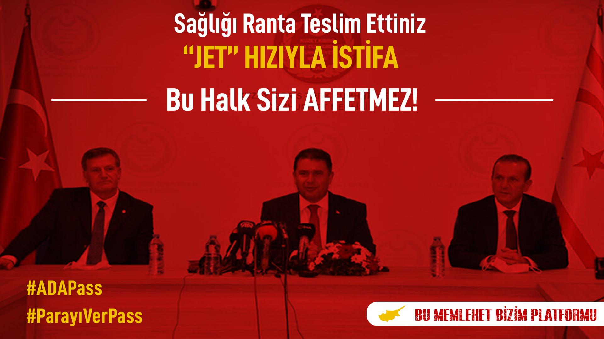 "BMBP: ""Jet"" Hızıyla İSTİFA EDİN!"