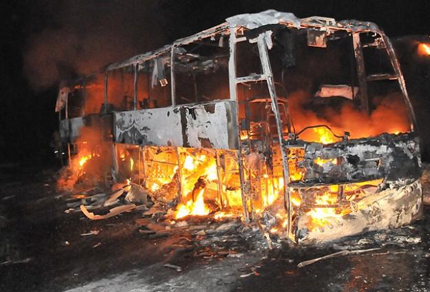 Çin'de otobüs yangını: 42 ölü