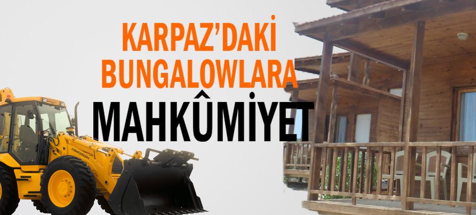 Karpaz'da Altın Kumdaki tesislere yeniden mühür!