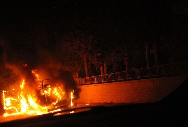 Halep'te AA ekibinin içinde olduğu konvoya saldırı