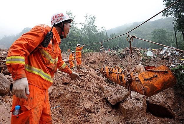 Çin'de şiddetli yağışlar sebebiyle 58 kişi öldü