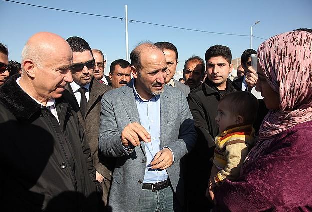 Carba Erbil'de Suriyeli sığınmacıları ziyaret etti