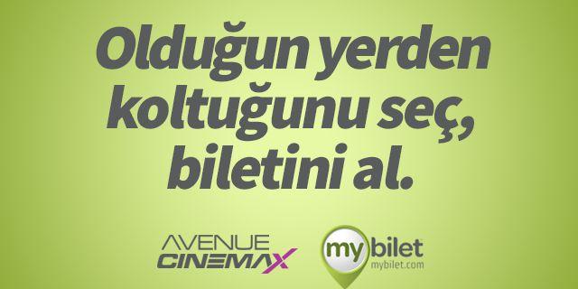"""Avenue'den """"MyBilet"""" Hizmeti"""