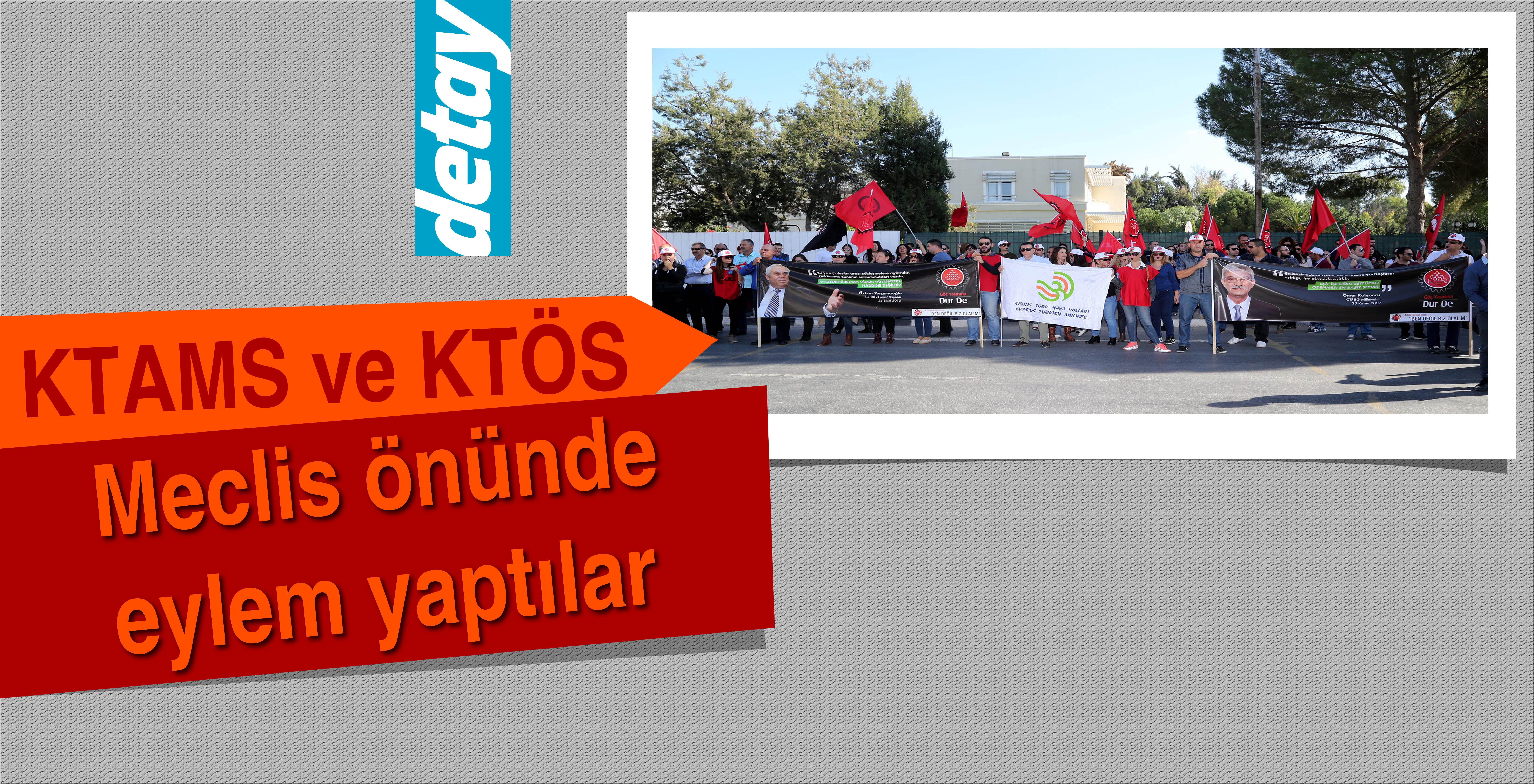 KTAMS ve KTÖS Meclis önünde eylem yaptı
