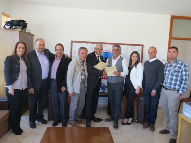 """""""Çıraklık ve Yetişkin Eğitim Merkezi Altyapı ve Eğitim Donamının Geliştirilmesi Projesi"""" imzalandı"""