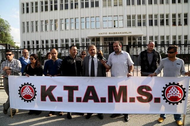 KTAMS, Başbakanlık önünde protesto eylemi yaptı