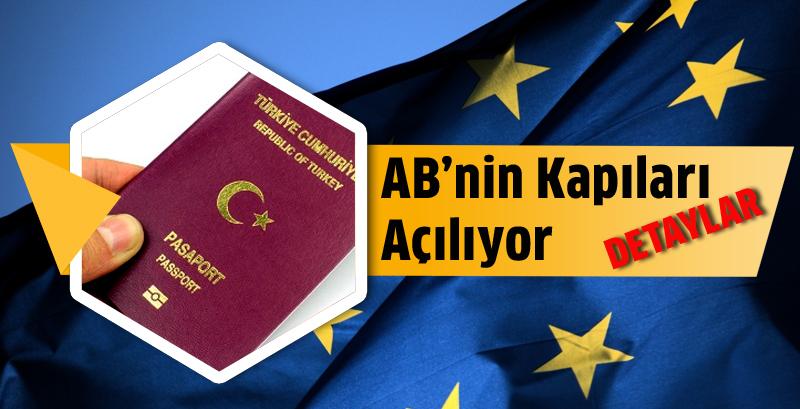 Türk vatandaşlarına vizesiz AB müjdesi
