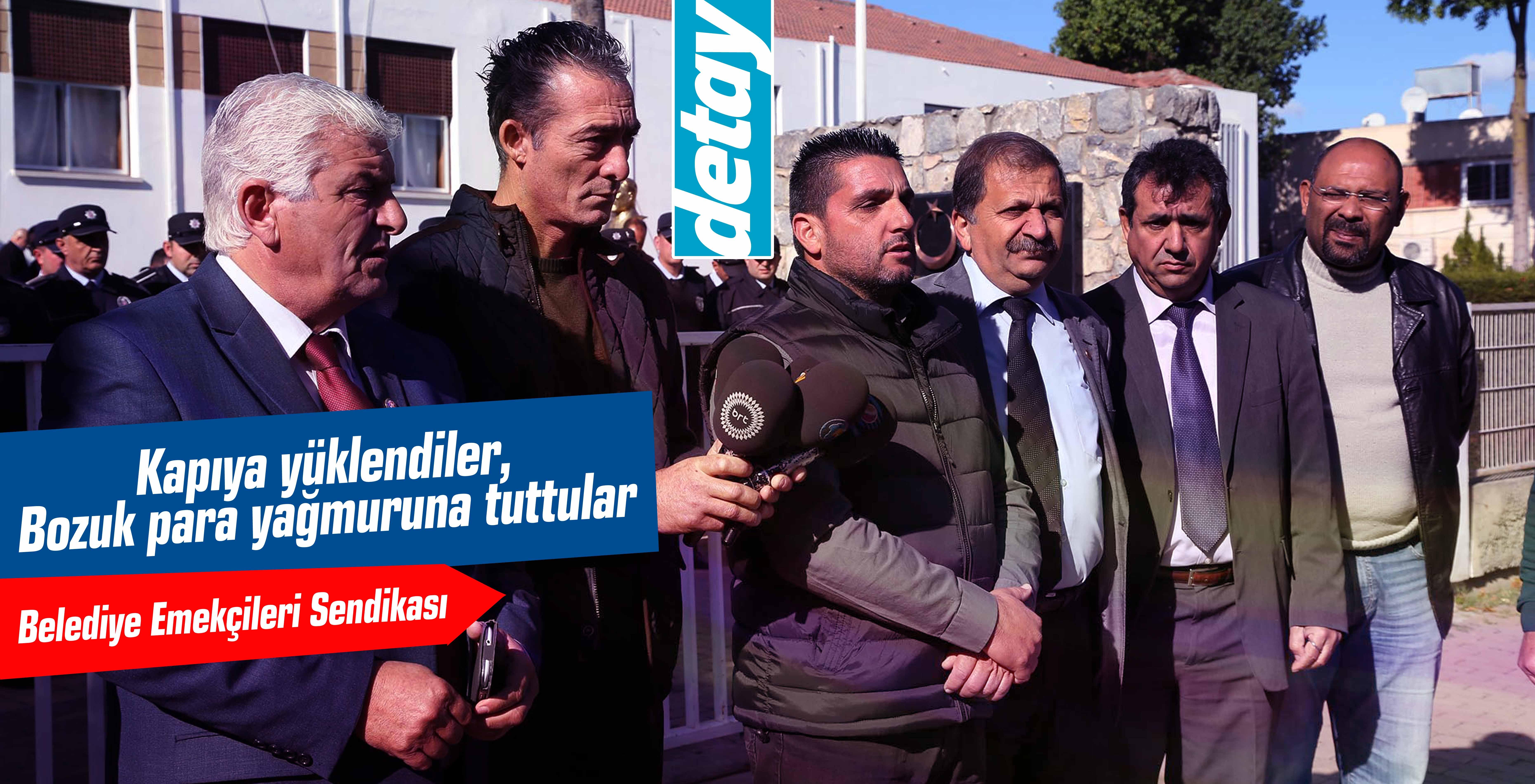 Yenierenköy Belediye çalışanları eylem yaptı