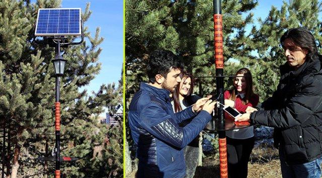 Güneş enerjisi ile çalışan cep telefonu