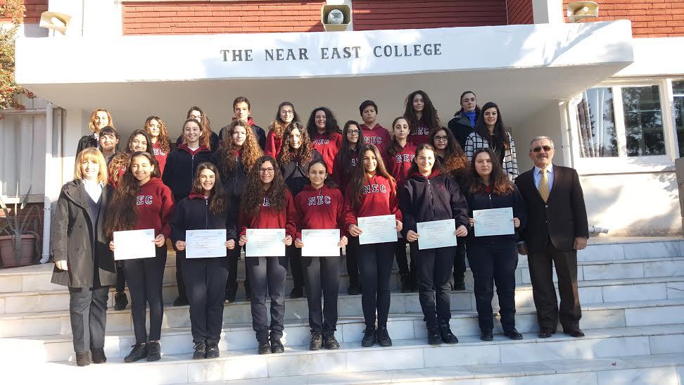 Yakın Doğu Kolejinin DELF başarısı