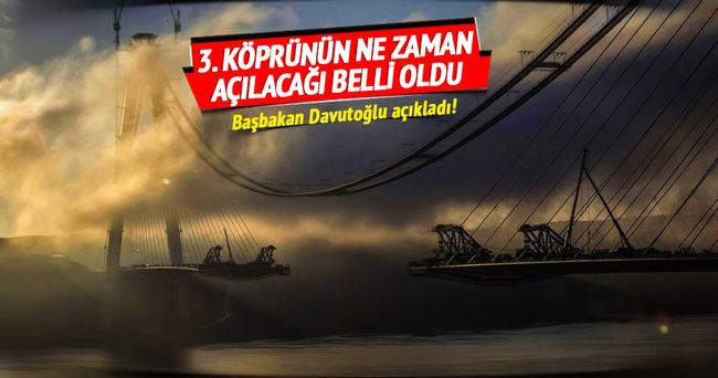 Davutoğlu: Yavuz Sultan Selim köprüsü yaz ayında açılacak