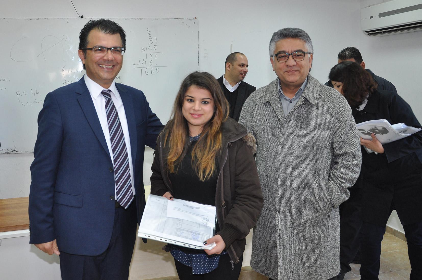 Akansoy çıraklık eğitim merkezi öğrencilerine karne verdi