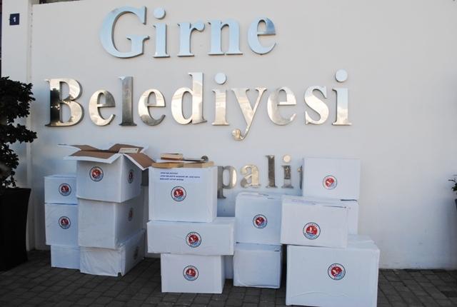 Girne Belediyesi Kitap Kampanyasında toplanan kitapları göndermeye başladı