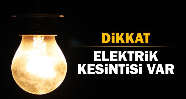 O bölgelere 3 saat elektrik verilemeyecek!