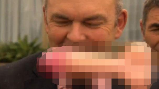 Bakanın yüzüne seks oyuncağı attı