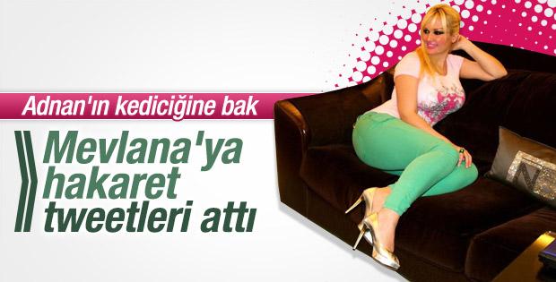 Adnan Oktar'ın Kediciği Tülay Kumaşçı yine sosyal medyayı salladı!