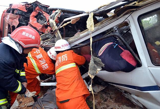 Çin'de trafik kazası