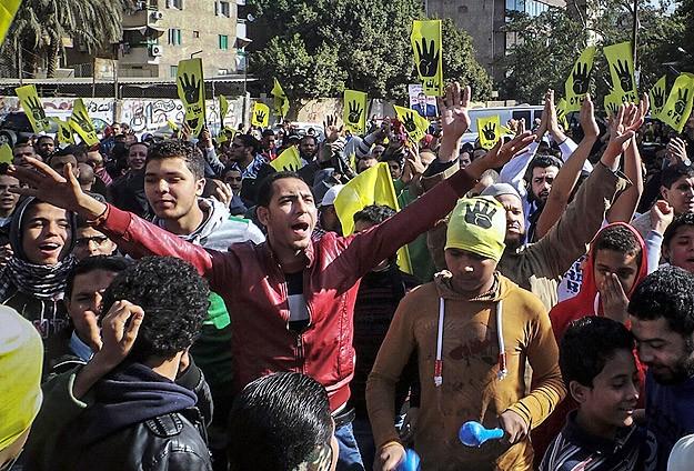"""İhvan terör örgütü"" kararına cuma protestosu"