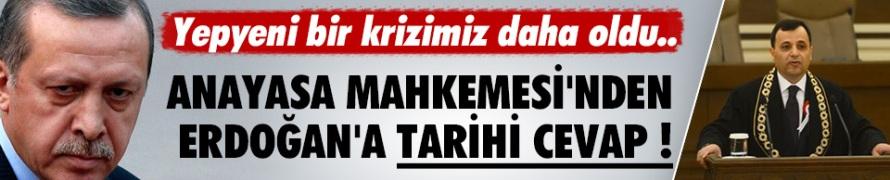 AYM Başkanı'ndan Erdoğan'a cevap