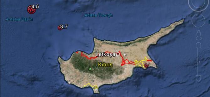 Kıbrıs'ta bir günde Üç Deprem