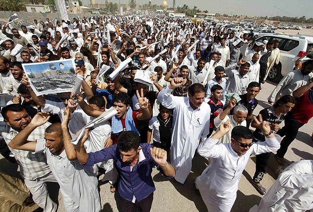 Irak'ta Suriye'ye müdahale protestosu