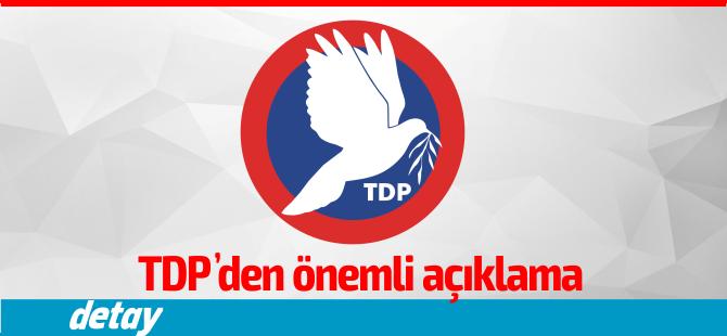 """TDP: """"DAÜ Yasa Tasarısı'nın geri çekilmesi endişe verici"""""""