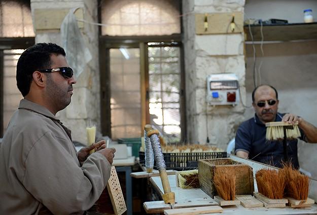 Filistinli görme engellilerin mücadelesi