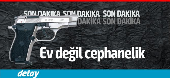 Sanki cephanelik...Tatlısu'da bir evde 4 tabanca ve 8 adet canlı mermi bulundu